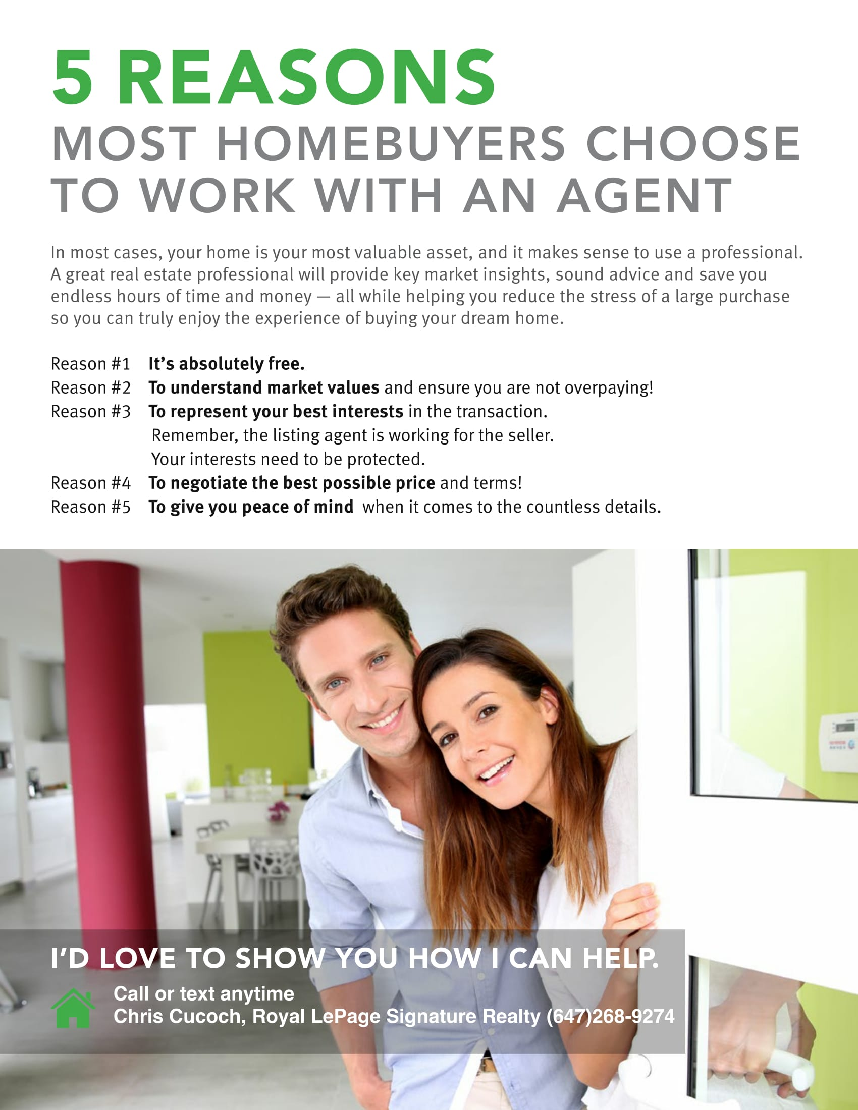 5 Reasons Most Home Buyers Choose to Work With an Agent